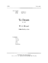 Te Deum - Score and Parts