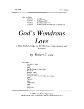 God's Wondrous Love - Orch