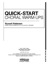 Quick Start Choral Warm-Ups - Director Edition