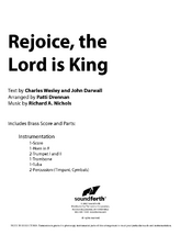 Rejoice, the Lord Is King - Orchestral Score and Parts
