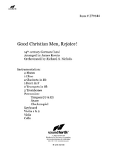 Good Christian Men, Rejoice - Orchestral Score and Parts