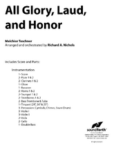 All Glory, Laud, and Honor - Orchestral Score and Parts