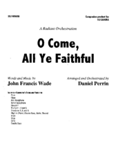 O Come, All Ye Faithful - Orch
