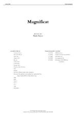 Magnificat - Full Orchestral Score and Parts