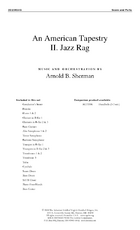 An American Tapestry II: Jazz Rag - Full Score and Reproducible Parts