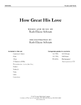 How Great His Love - Orchestral Score and Parts