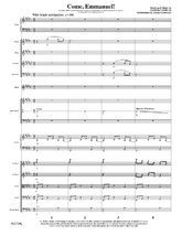 Come, Emmanuel! - Orchestral Score and Parts